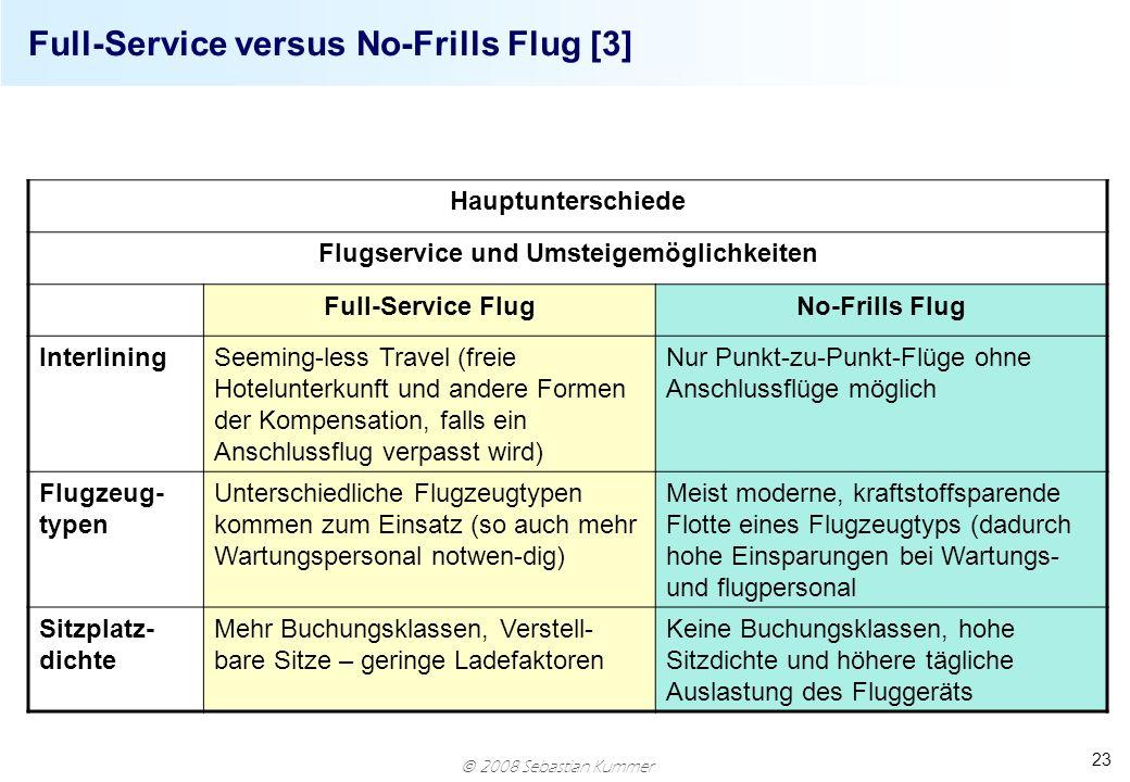 Full-Service versus No-Frills Flug [3]